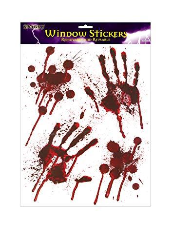 Halloween Blutige Hände Fensteraufkleber - blutige designs HAND MUSTER mit Blutspritzer
