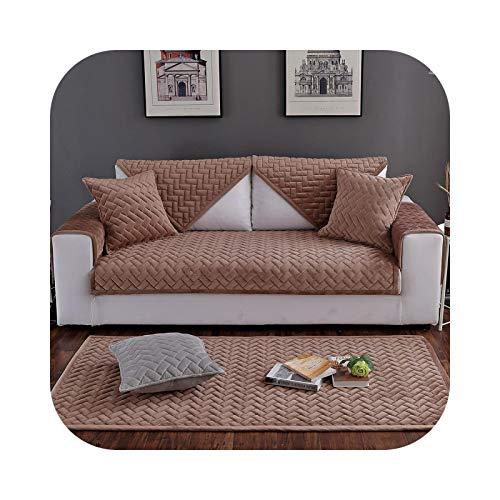 1 funda de sofá de forro polar de cristal extraíble para mascotas, perros, niños, para sillones, fundas lavables para sofá, fundas para reposabrazos, color marrón, 90 x 240 cm, 1 pieza