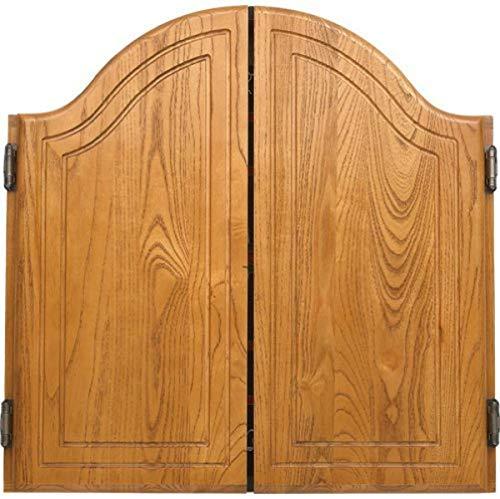 CueStix International Arched Oak Dart Board Cabinet