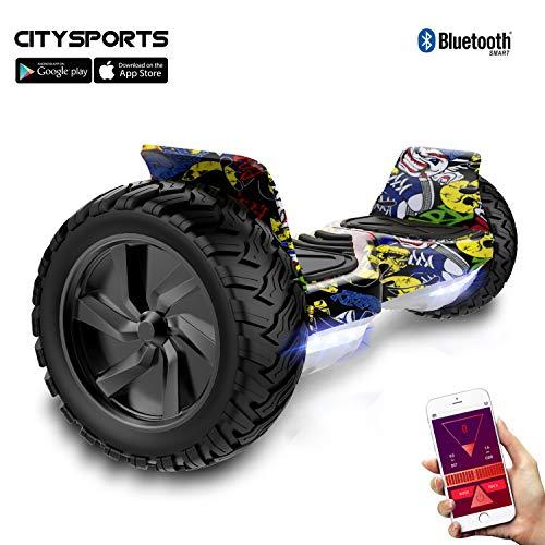 """CITYSPORTS Balance Board Todo Terreno de 8.5"""", Balance Board Patinete Eléctrico Hummer SUV, Bluetooth y App, 700W"""