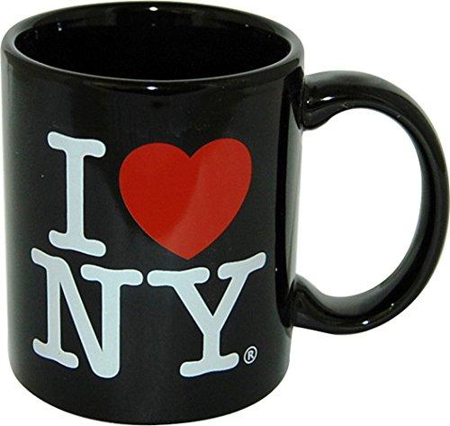 """I Love New York Bunte Tassen, 313 ml, doppelseitig, \""""I Love Ny\"""", in den Farben Gelb, Pink, Orange, Blau, Lila, Schwarz und Weiß"""
