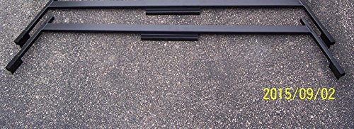 Ez Wheeler Heavy Duty Universal Ladder/Boat Rack for Aluminum Truck Caps - Black Finish (BR1X2B)