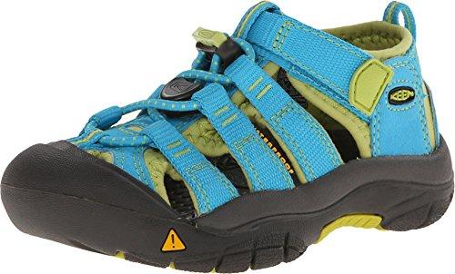 Keen Unisex-Kinder Newport H2 Sandalen Trekking-& Wanderschuhe, Hawaiian Blue/Green Glow, 32/33