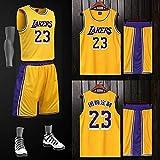 Lafe NBA Trikot Herren James Lakers Trikot 23, Matchballanzug individuell bedruckter Druck Basketballanzug Herren Sommer atmungsaktives Sweatshirt Shirt -