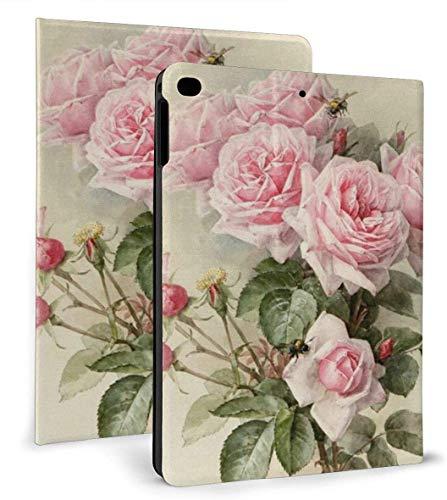 Vintage Rose PU Leather Smart Case Función Auto Sleep / Wake para iPad Mini 4/5 7.9 'y iPad Air 1/2 9.7' Case