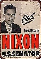 Elect Richard Nixon 金属板ブリキ看板警告サイン注意サイン表示パネル情報サイン金属安全サイン
