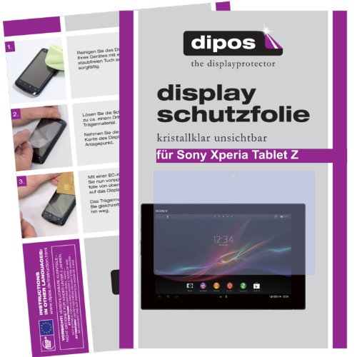 dipos I 2X Protector de Pantalla Compatible con Sony Xperia Tablet Z pelicula Protectora Claro