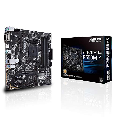 ASUS Prime B550M-K Gaming Mainboard Sockel AM4 (micro ATX, Ryzen, PCIe 4.0, 2x M.2-Steckplätze, SATA 6Gbit/s, USB 3.2 Gen 2 Typ-A)