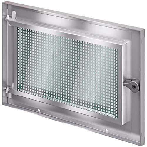 ACO MARKANT Stahlkellerfenster 1 Flügel ESG Sicherheitsglas mit Mauerranker, Maße:50 x 40 cm