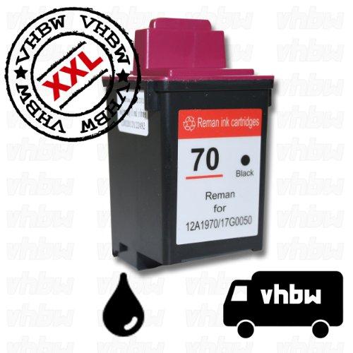 vhbw Druckerpatrone Tintenpatrone schwarz für Compaq IJ600, Lexmark P3120, P3150, P706, P707, Z12, Z22, Z32, Z705, Z715 wie Lexmark 50, 17G0050.