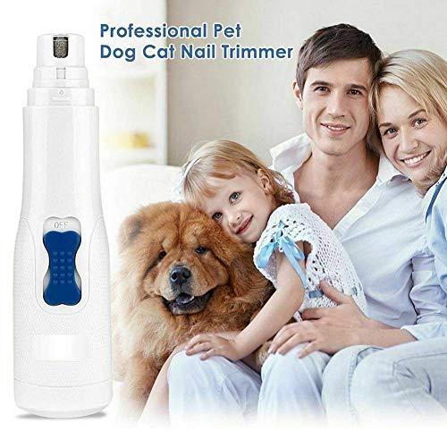 Pilas de uñas automático seguro de animal doméstico eléctrico Clippers condensador de...