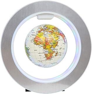 FEE-ZC Explore The World Educational Swivel Globe Levitation Floating Globe Maglev Globes World Map with LED Light Desk De...