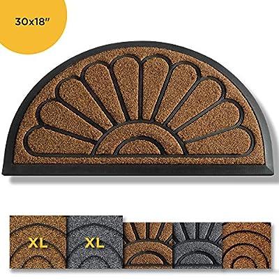 Extra Durable Door Mat Outdoors - Door Mat - Entry Rug - Outdoor Door Mat - Non-Slip Waterproof Thin Doormat Outdoor Doormat Indoor (30 x 18) - Inside Doormat and Back Door Mat - Rubber Door Mat