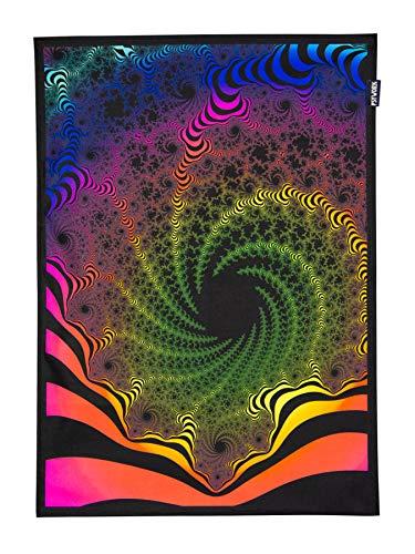 PSYWORK Schwarzlicht Stoffposter Neon Fractal Dimension III, 0,5x0,7m