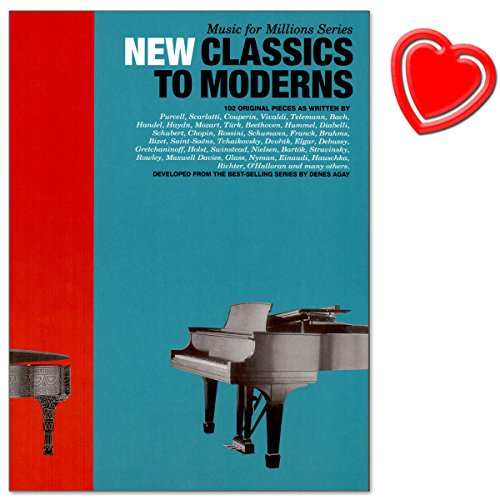 Music For Millions: New Classics To Moderns – Partituras para Piano con Bunter herzförmiger Ordenador Pinza
