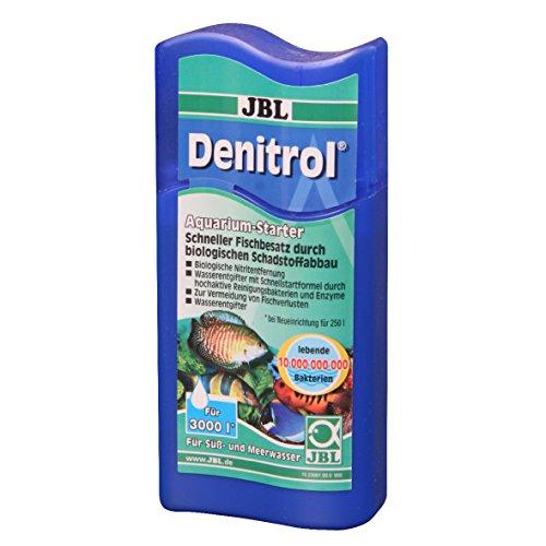 JBL Denitrol 2306100, Aquarium-Starter, Bakterienstarter, Für Süß- und Meerwasser-Aquarien, Neueinrichtung, Waserwechsel, 100 ml