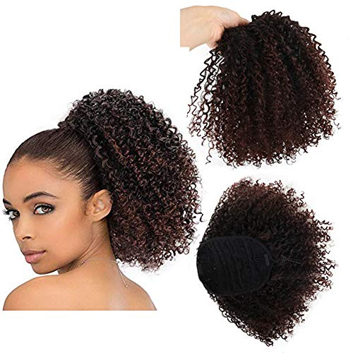 Synthetic Curly Hair Ponytail Drawstring Afro Kinky Curly Ponytail African...