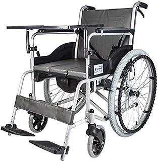車いす 自走式 折りたたみ車椅子 背折れ式 ルミ合金製 ノーパンクタイヤ テーブル付き トイレ付き ブレーキが付き 安全ベルト付き 介助兼用車椅子 歩行補助器 介護用