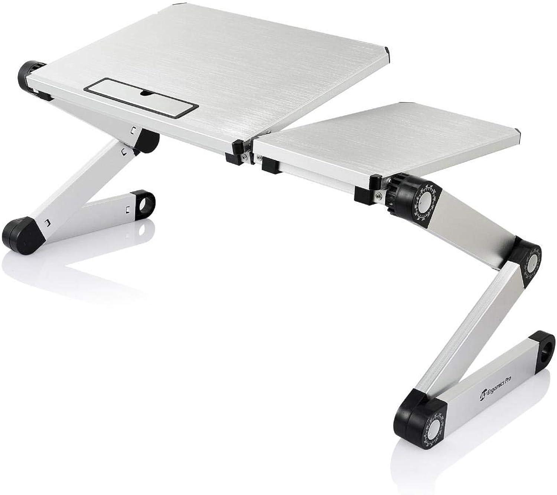 Bed Computer Desk_Laptop Table Folding Computer Desk Aluminum Bed, Silver