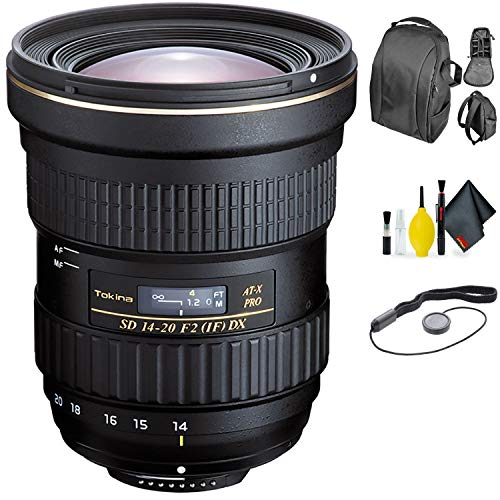 Tokina at-X 14-20mm f/2 PRO DX Lens for Nikon + Deluxe Lens Cleaning Kit