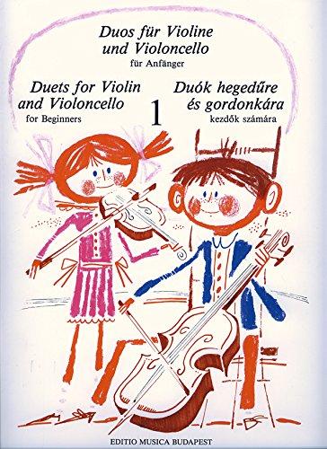 Duos für Violine und Violoncello für Anfänger I Violin and Violoncello - Buch