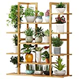 ZAHOYAN Soporte De Madera para Plantas Grandes - Estante De Exhibición De Bonsai De Flores De 20 Macetas para Patio De Jardín Balcón Decoración De Interiores