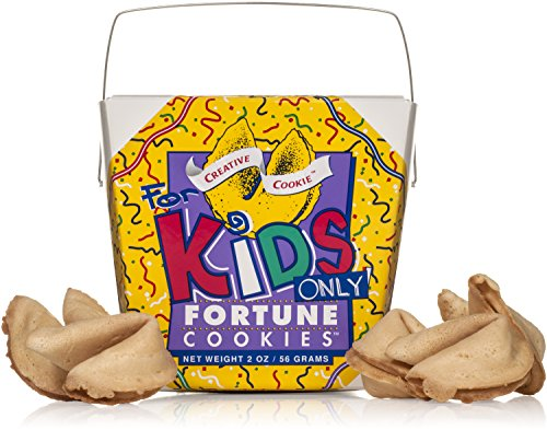 Fortune Cookies For Kids In A Gift Box – 8 Pieces Traditional Vanilla Flavor Individually Wrapped – Kosher Certified Gourmet Gift