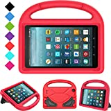 Kids Case for All-New Fire 7 2019/2017 - TIRIN Light Weight Shock Proof Handle Kid–Proof Cover Kids Case for Fire 7 Tablet (9th/ 7th/ 5th Generation, 2019/ 2017/ 2015 Release)(7' Display), Red