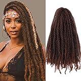 3Pcs/Lot Marley Braiding Hair Afro Marley Hair Crochet Braids 18Inch Kanekalon African Soft Kinkys Twist Braiding Hair for Black Women(T1B/30#)