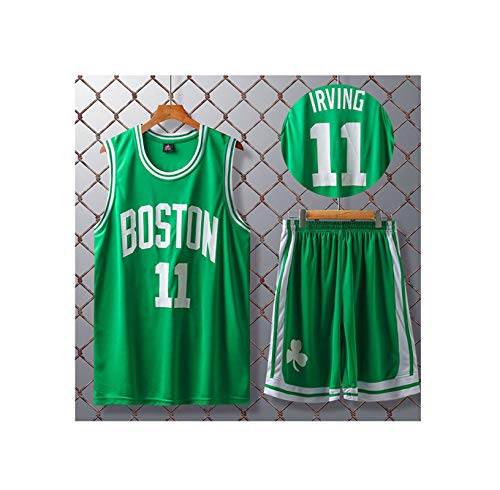 GBY Boston Celtics 11# Kyrie Irving, Ropa Deportiva Suelta y cómoda, Camiseta de Baloncesto Green-XXXXXL
