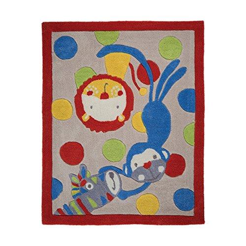 Flair Rugs Tapis Kiddy Play Jungle pour Enfant, multicolore, 100 x 80 x 100 cm