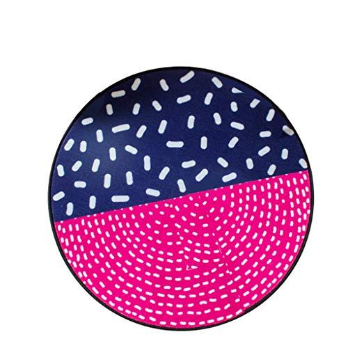 JCOCO Zone de Tapis Ronde Simple créative Facile à Manipuler Les Taches Anti-Fading Chambre Anti-dérapante Restaurant Ordinateur Coussin Chaise Plusieurs Couleurs (Couleur : #4, Taille : 200 * 200cm)