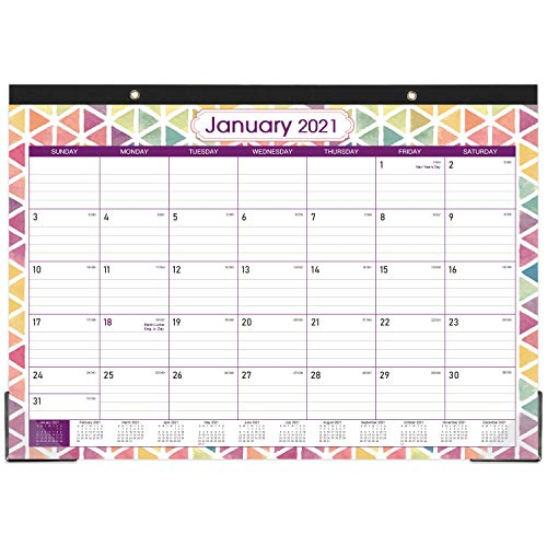 "2021 Desk Calendar - Monthly Desk/Wall Calendar, 17"" x 12"", Large Monthly Desk Calendar, Large Ruled Blocks, Tear Off, Best Desk Calendar for Planning and Organizing"