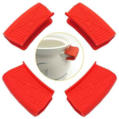 Ceqiny 2 pares de asas silicona para ollas agarraderas para ollas agarres...