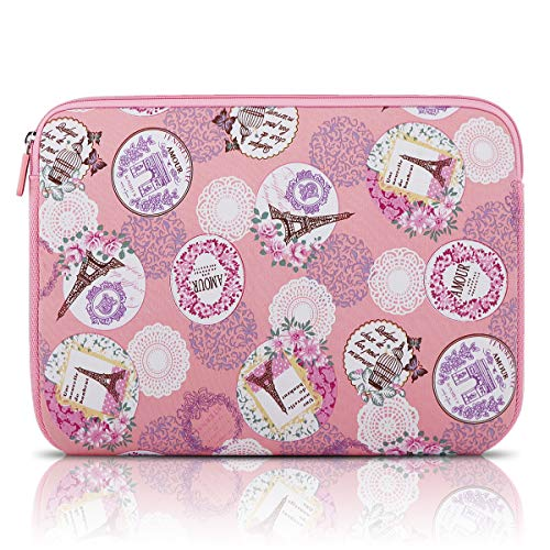 Arvok 15-15.6 Inch Laptop Sleeve Multi-Color & Size Choices Case/Water-Resistant Neoprene Notebook Computer Pocket Tablet Briefcase Carrying Bag/Pouch Skin Cover for Acer/Asus/Dell, Romantic Pink