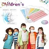 50 Unidades 𝐌𝐚𝐬𝐜𝐚𝐫𝐢𝐥𝐥𝐚𝐬 Desechables Colores Infantiles Antipolvo Filtro de 3 Capas Elásticos Reutilizable y Al Aire Libre Transpirables