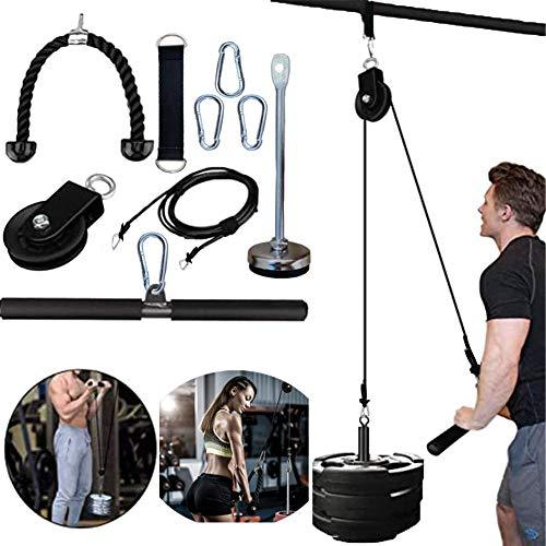 Pulley Cable Machine Männer Frauen Professionelle Muskelkraft Fitnessgeräte Unterarm Handgelenk Roller Training für LAT Pulldowns, Bizeps Curl, Trizeps Extensions Workout