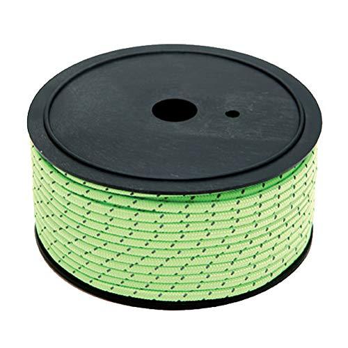 ABOOFAN 50M 5mm Uso al aire libre Cuerda reflectante Tienda de campaña Cuerda Fija Guy Líneas de Color Brillante Cuerda de Tendedero para Senderismo Camping al aire libre (Verde)