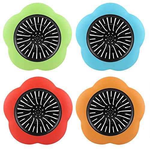 Gatuxe Colador de Lavabo, colador de Lavabo de plástico en Forma de Flor, Lavabo para baño, bañera, Cocina