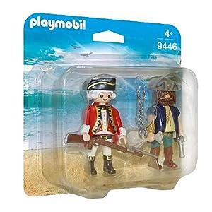PLAYMOBIL- Pirata y Soldado Juguete, Multicolor (geobra Brandstätter 9446)