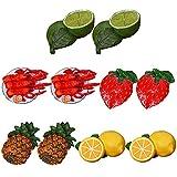 FunPa Imanes De Nevera Resina Decorativa Divertidos Frutas Realistas Plástico Lindas Pegatinas Creativas para Nevera Accesorios Pequeños Divertidos Pegatinas Creativas Hechas A Mano para Oficina