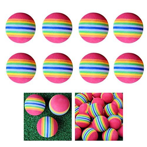 LIOOBO 8Pcs 38mm Rainbow EVA Foam Ball Golf Entrenamiento Soft Golf Training Ball (Colorido)