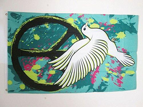 AZ FLAG Flagge Peace and Love Graffiti 150x90cm - Frieden Fahne 90 x 150 cm - flaggen Top Qualität