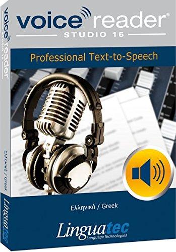Voice Reader Studio 15 Grec / Ελληνικά / Greek – Professional Text-to-Speech Software - Logiciel synthèse vocale (TTS) pour Windows PC – Sonorisation professionnelle - Qualité vocale exceptionelle – Transformer tout type de texte en audio