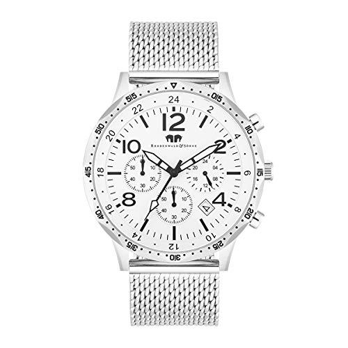 Rhodenwald & Söhne Reloj para Hombre análoga Japón Mecanismo de Cuarzo con Correa de Acero Fino 10010309
