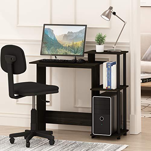 Furinno 11192EX/BK Efficient Computer Desk, Espresso/Black