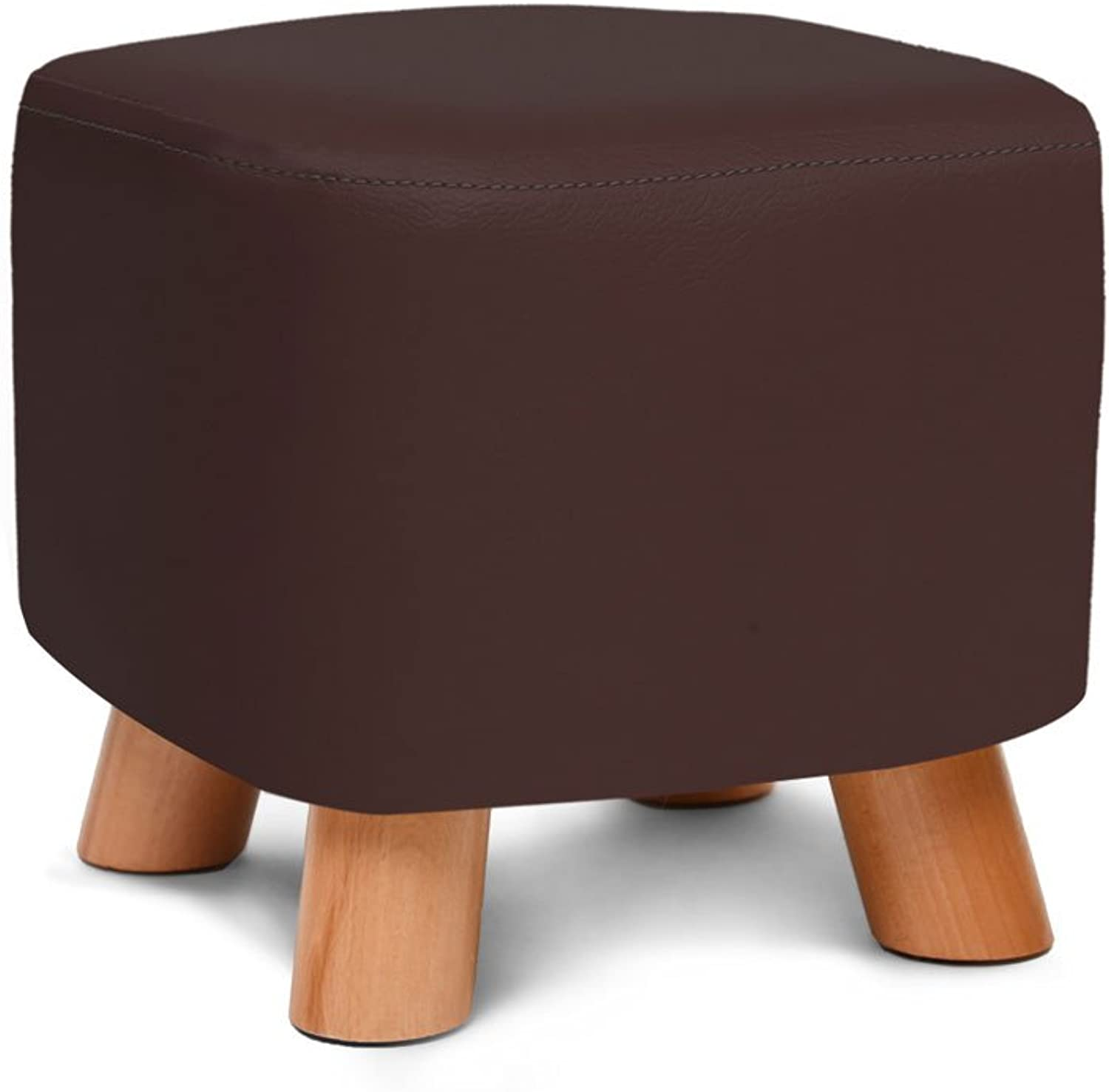 YE ZI Chair - Chair-Home Solid Wood Multifunctional Fabric Storage Stool Comfortable and Durable (color   Brown)