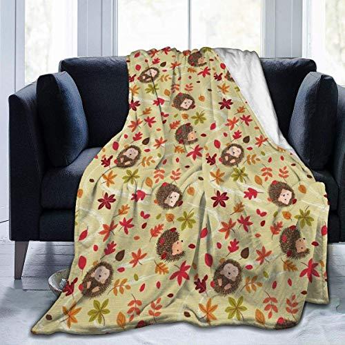 Wobuzhidaoshamingzi fleecedeken, flanel, herfst, egel, microvezel, zeer zacht en comfortabel