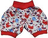 simply-sweet-baby Kurze Babyhose Pumphose Shorts Auf und unter Wasser rotes Bündchen (80)