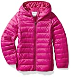 Amazon Essentials Girl's Lightweight Water-Resistant Packable Hooded Puffer Jacket, Fuchsia Purple, X-Small